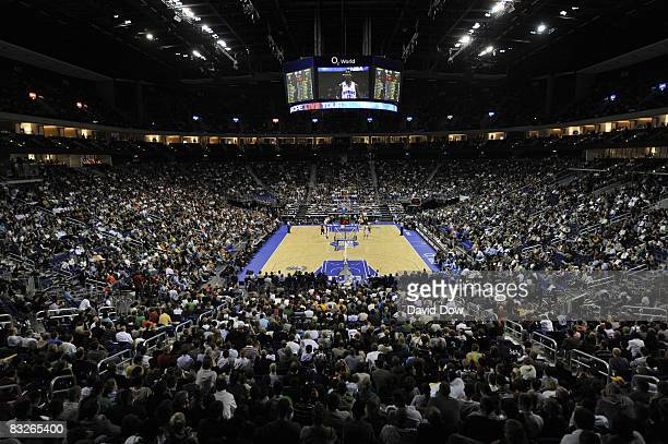 A panoramic of O2 Arena during the 2008 NBA Europe Live Tour on October 14 2008 at the 02 World Arena in Berlin Germany NOTE TO USER User expressly...
