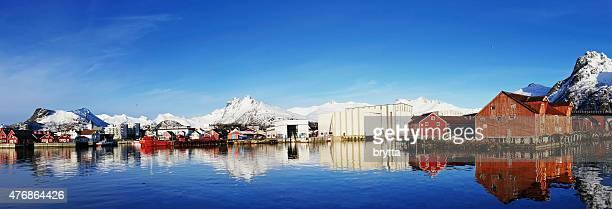 Panoramic of Svolvaer, Lofoten,Norway