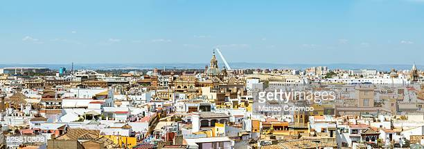 Panoramic of the city of Seville, Andalusia, Spain