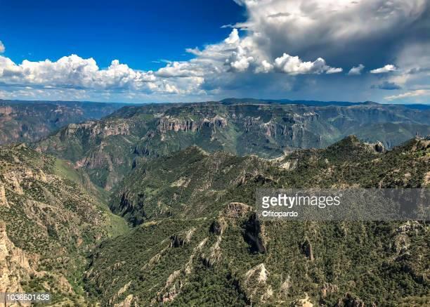 panoramic of the copper canyon - メキシコ北部 ストックフォトと画像