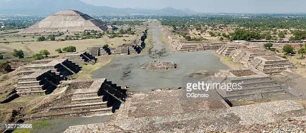 XXL ERHÄLTLICH: Panorama von den Pyramiden von Teotihuacán in Mexiko
