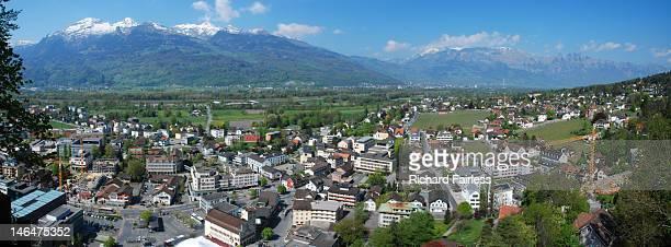 Panoramic of Vaduz, Liechtenstein