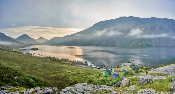 A panoramic of Wastwater in the Lake District