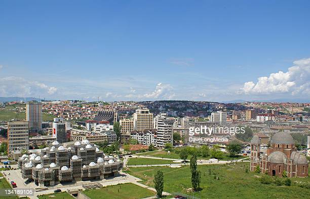 panoramic photo of prishtina kosovo - kosovo stock pictures, royalty-free photos & images