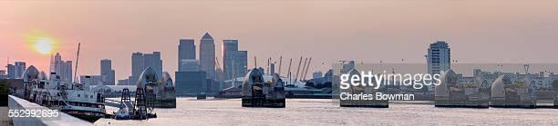 Panoramic photo shows east London skyline