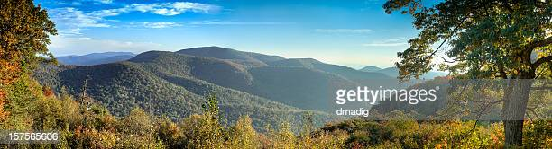 Panoramic picture of Blue Ridge Mountains