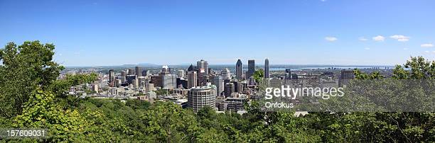 Panoramic picture of Montreal cityscape