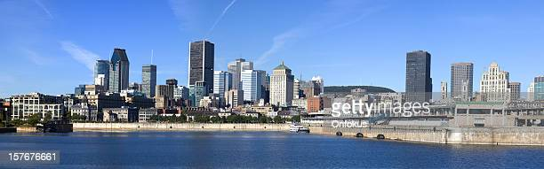 panoramic picture of montreal cityscape - montréal stock pictures, royalty-free photos & images