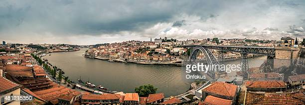 Panoramic picture of Porto in the morning, Portugal
