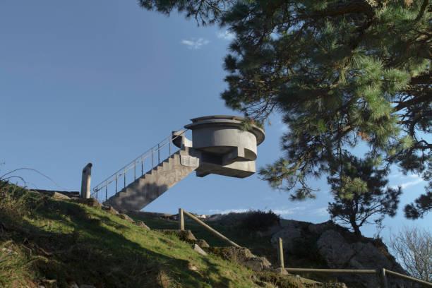 "panoramic point ""mirador del fito"", Sierra del sueve, Asturias (Spain)"