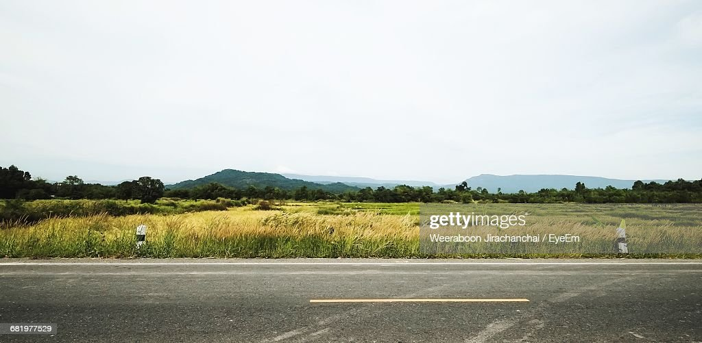 Panoramic Rural Landscape In Summer : Stock Photo