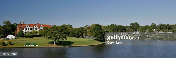 A panoramic scenic view of the clubhouse during the third round of THE TOUR Championship the final event of the new PGA TOUR Playoffs for the...