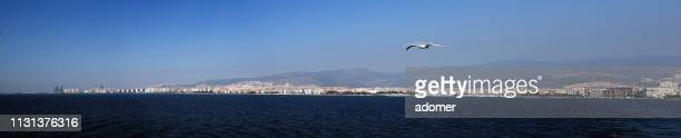 panoramic sea view of karşıyaka, i̇zmir-turkey - izmir stock pictures, royalty-free photos & images