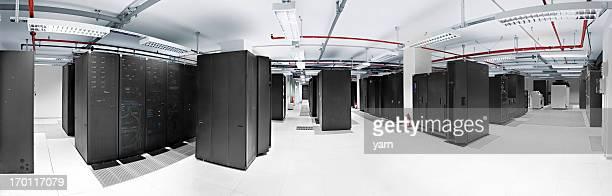 Panoramic Server room in datacenter