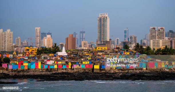 panoramic shot of buildings against sky - maharashtra stock pictures, royalty-free photos & images