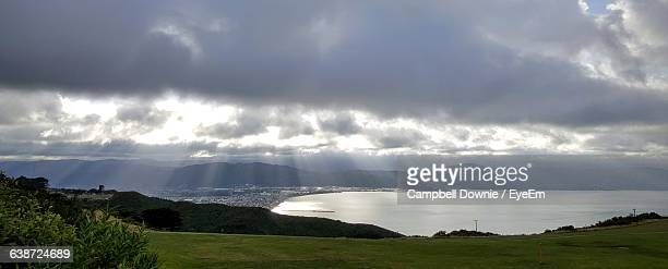 panoramic shot of sea against cloudy sky - campbell downie stock pictures, royalty-free photos & images