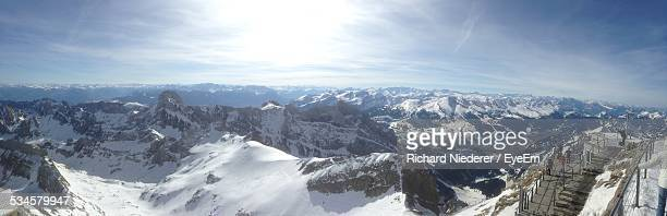 Panoramic Shot Of Snow Covered Mountains