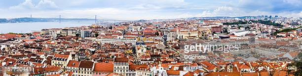 panoramic skyline of lisbon, portugal - ogphoto stock pictures, royalty-free photos & images