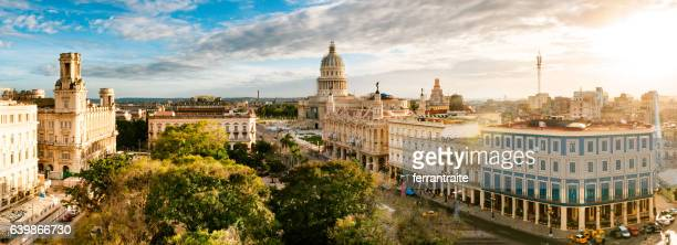 panoramic skyline of old havana cuba - cuba foto e immagini stock