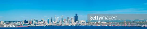 Panoramic Skyline of Seattle in Washington State, United States