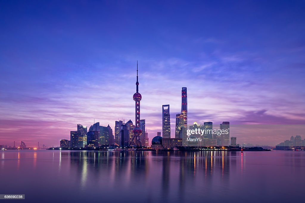 Panoramic skyline of Shanghai : Stock Photo