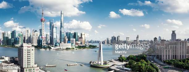 Panoramic skyline of Shanghai
