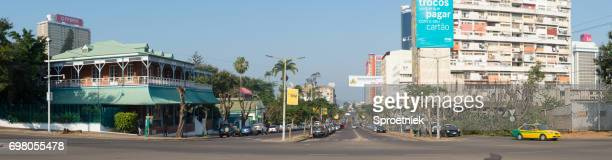 Panoramic street scene in Maputo, Mozambique