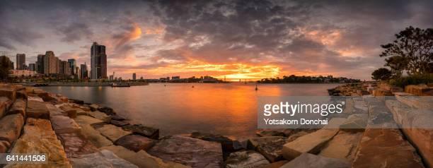 Panoramic Sunset at Barangaroo Reserve, Sydney