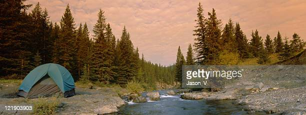 Panoramic Tenting at Cascading Brook