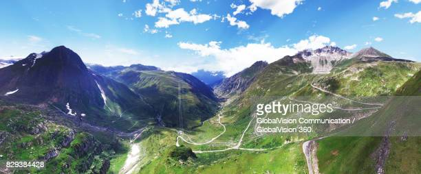 Panoramic View above the Swiss Alps