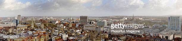 Panoramic view across Bristol in south west England taken on May 23 2013
