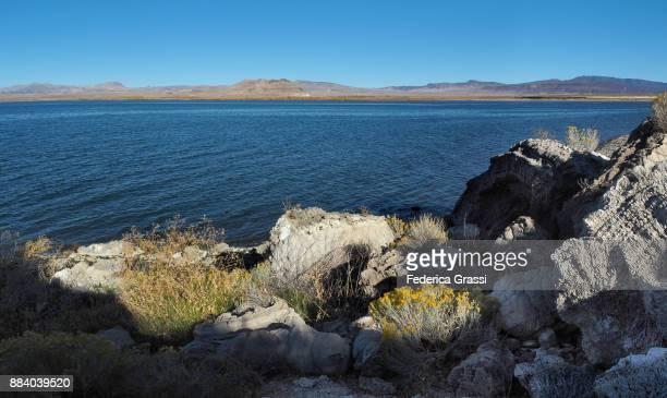 Panoramic View Along The Shore Of Pyramid Lake, Nevada