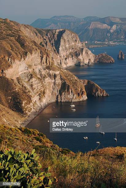 Panoramic view at Quattrocchi, Lipari, Sicily