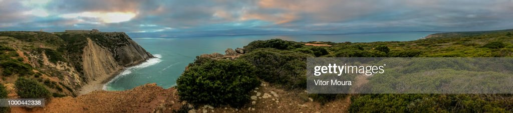 Panoramic view from Cabo Espichel : Stock Photo