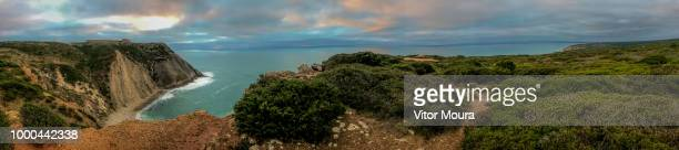 panoramic view from cabo espichel - moura stock photos and pictures