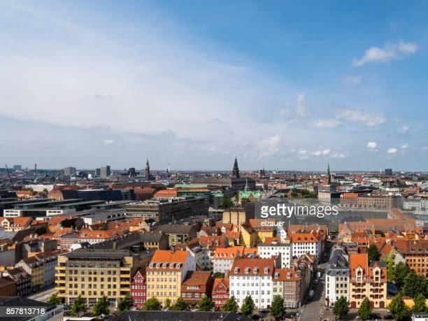 Panoramic view from center of Copenhagen