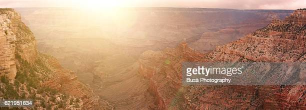 Panoramic view from Grand Canyon National Park Headquarters, South Rim. Grand Canyon Village, Arizona