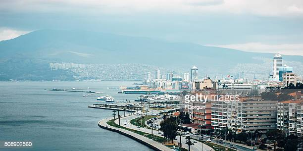 panoramic view from izmir - izmir stock pictures, royalty-free photos & images