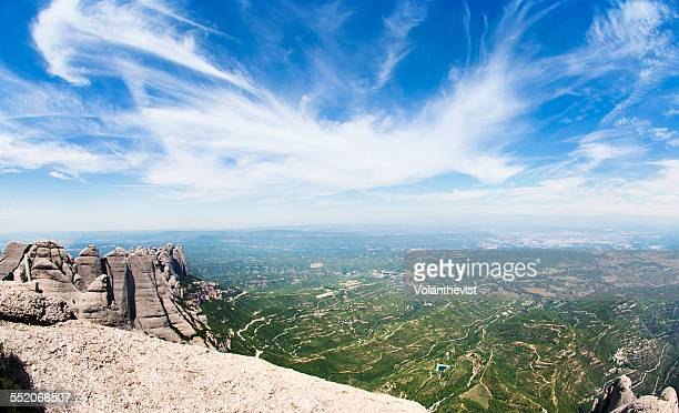 Panoramic view from Montserrat mountains Catalonia