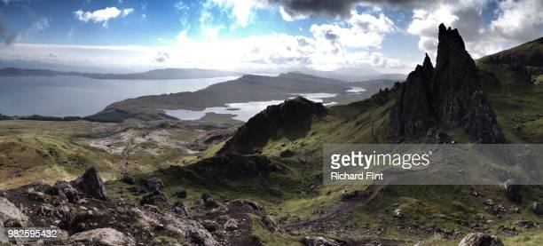 Panoramic view from the Old Man of Storr, Skye