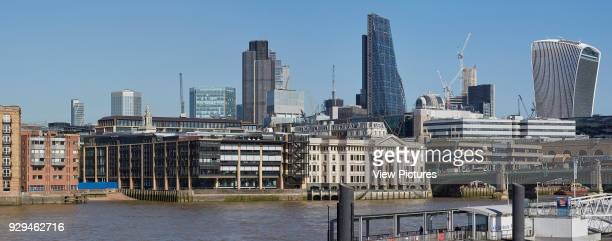 Panoramic view from the river Thames Angel Court London United Kingdom Architect Fletcher Priest 2017