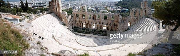 Panoramic view from Theater Of Herodes Atticus, Acropolis, Athens
