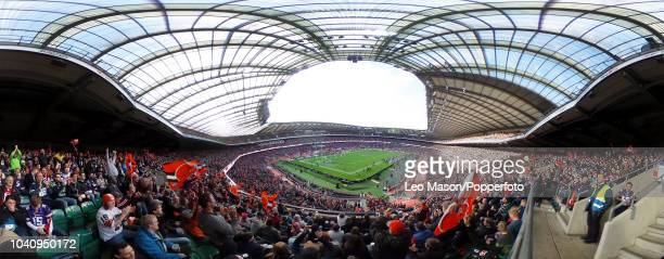 Panoramic view inside the stadium during the NFL International Series match between Minnesota Vikings and Cleveland Browns at Twickenham Stadium on...
