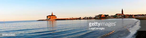 panoramic view, landscape of caorle, veneto, italy - consiglio stock pictures, royalty-free photos & images