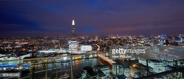 Panoramic view looking over London at dusk Architectural Stock Various United Kingdom Architect n/a 2016