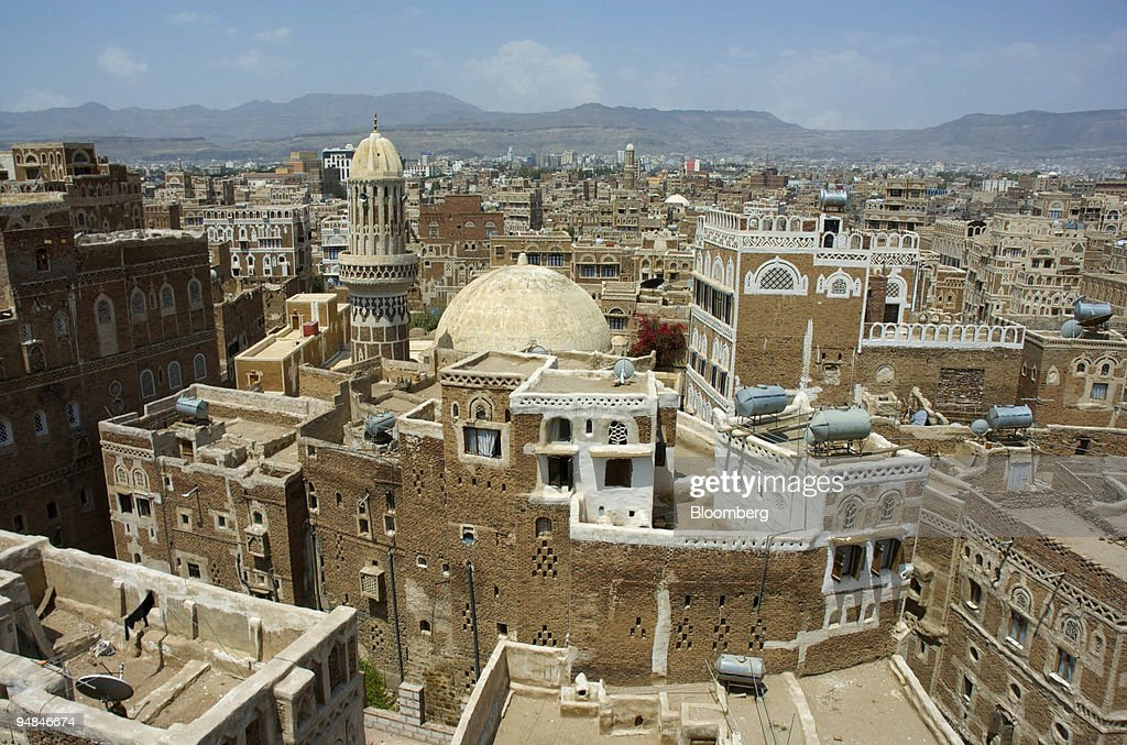 A panoramic view looks over the city Sana'a in Yemen, on Fri : News Photo