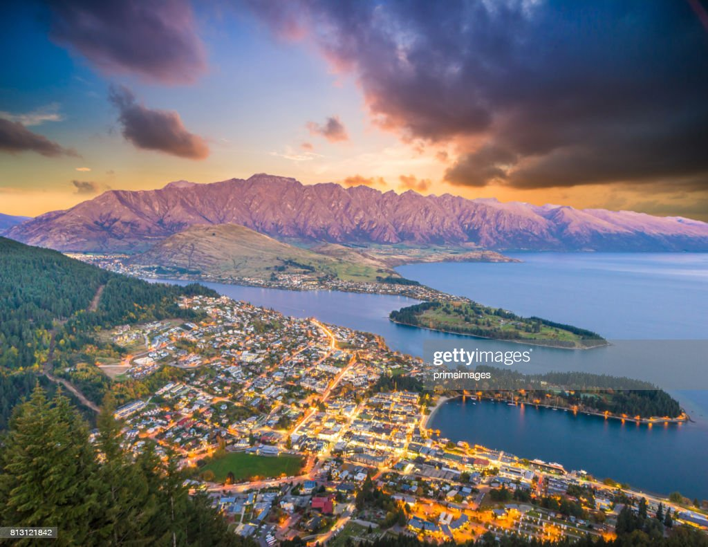 Panoramic view nature landscape in south island New Zealand : Stock Photo
