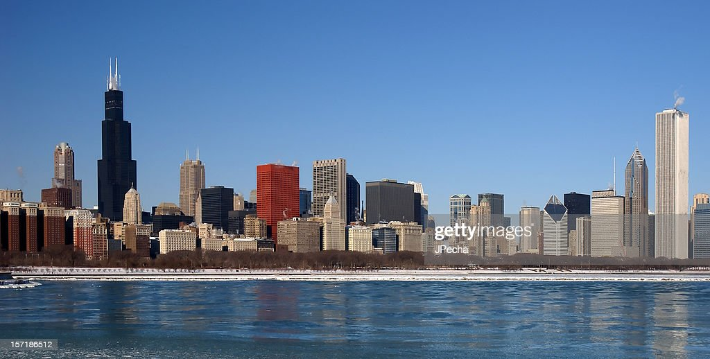 Panoramic view of a Chicago skyline. : Stock Photo