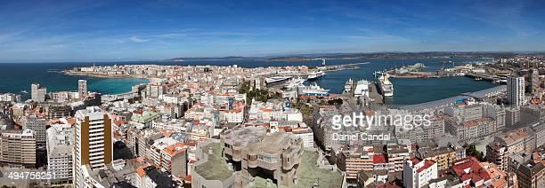 Panoramic view of A Coruña