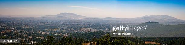panoramic view of addis ababa, ethiopia - december 1, 2017 - addis ababa stock pictures, royalty-free photos & images